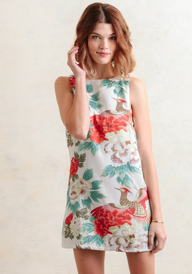 Roman Holiday Floral Dress